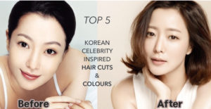 Korean celebrity inspired hair cuts and colours